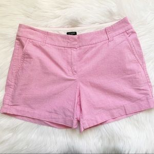 J. Crew Oxford City Fit Shorts Pink